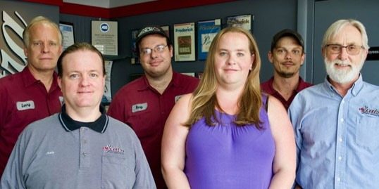 Auto repair team photo