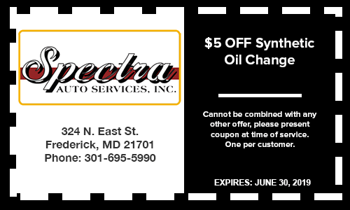 5 Dollars OFF Synthetic Oil Change